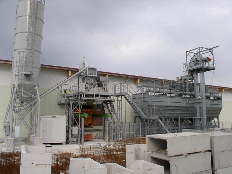 Concrete Production Plant : Massive concrete block manufacturing plants head to
