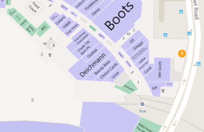 LLDC office map location