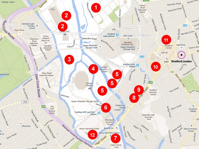 New building locations in and around Stratford London